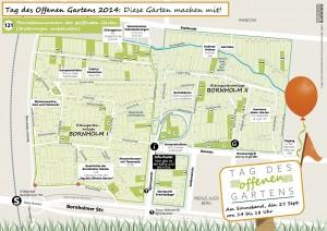 Karte der Gärten, die wahrscheinlich offen sind