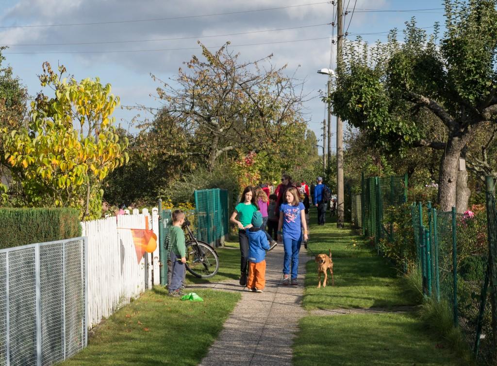 Besucherandrang im Tulpenweg
