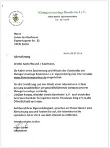 Abmahnung Bornholmgaertner.de
