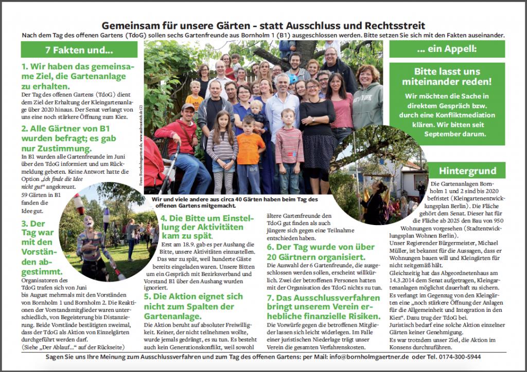 Flyer: Gemeinsam für unsere Gärten